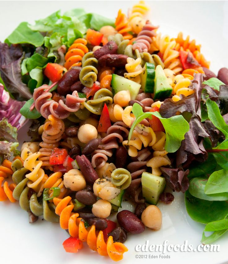 Sweet & Sour Pasta Salad - Three Bean | salads, slaws, salsa and dres ...