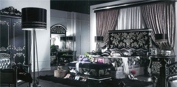 furniture in black and silver bedroom mirrors silver charcoal