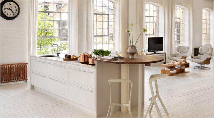 Flat Slab White Inset Kitchen Cabinets Contemporary Kitchens With F
