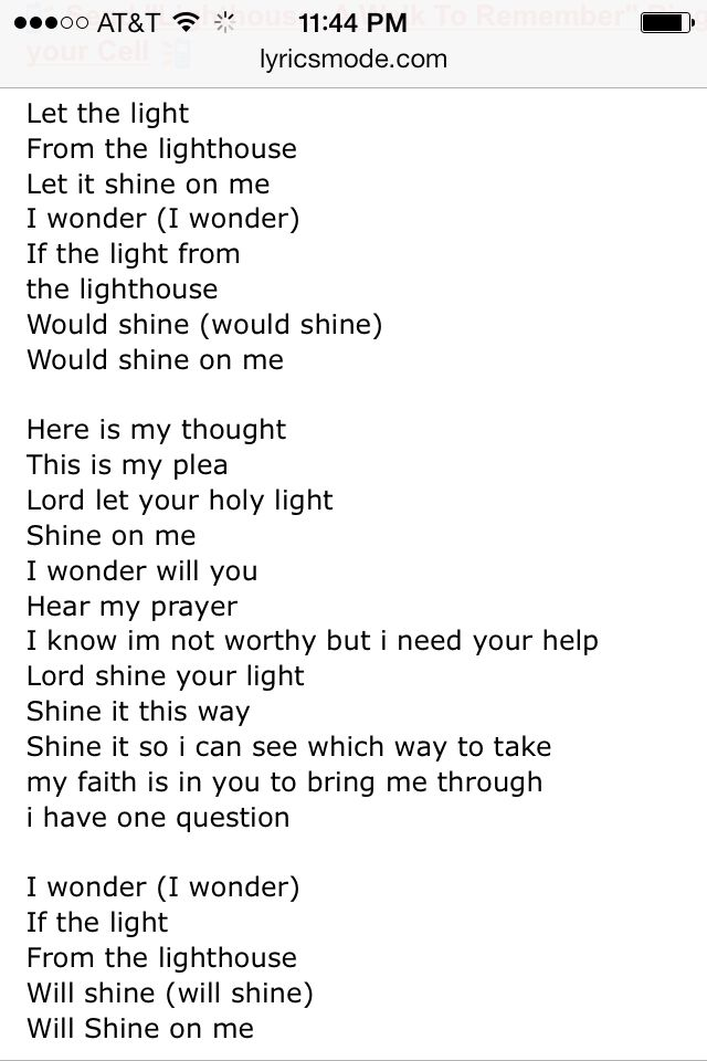 Walk to Remember Lighthouse lyrics | Quotes | Pinterest
