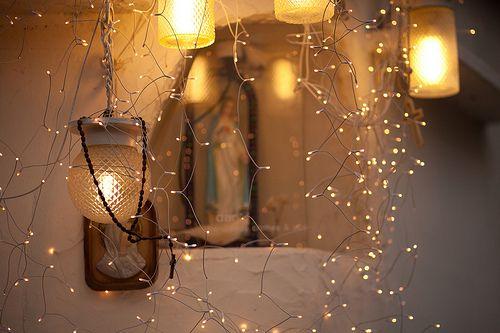 Tiny rice lights & lanterns