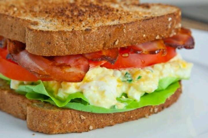 Bacon, eggs, lettuce & tomato | FoOd :) | Pinterest