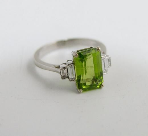 peridot and emerald cut ring jewellery