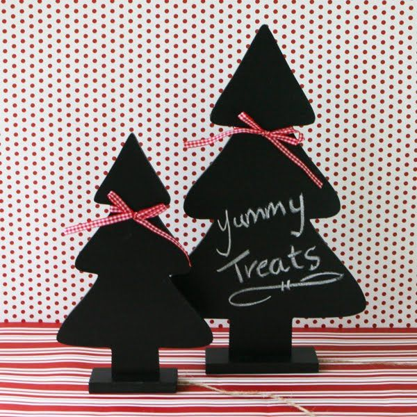 Chalkboard Christmas Tree | Christmas Crafts | Pinterest