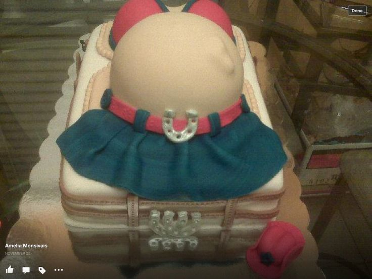 Baby Shower cow girl cake.
