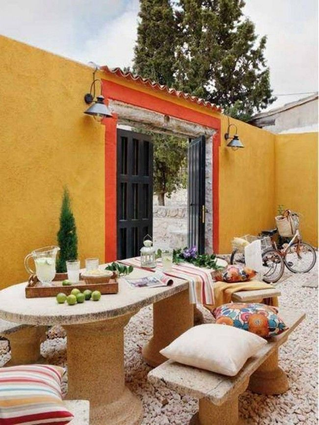 Spanish Courtyard Design Home Ideas Pictures