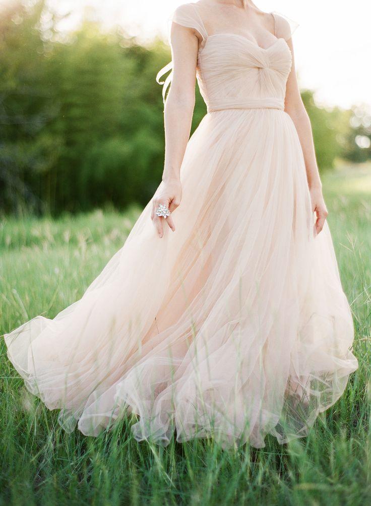 Blush Wedding Dress Reem Acra : Gorgeous reem acra wedding dress reemacra read more http