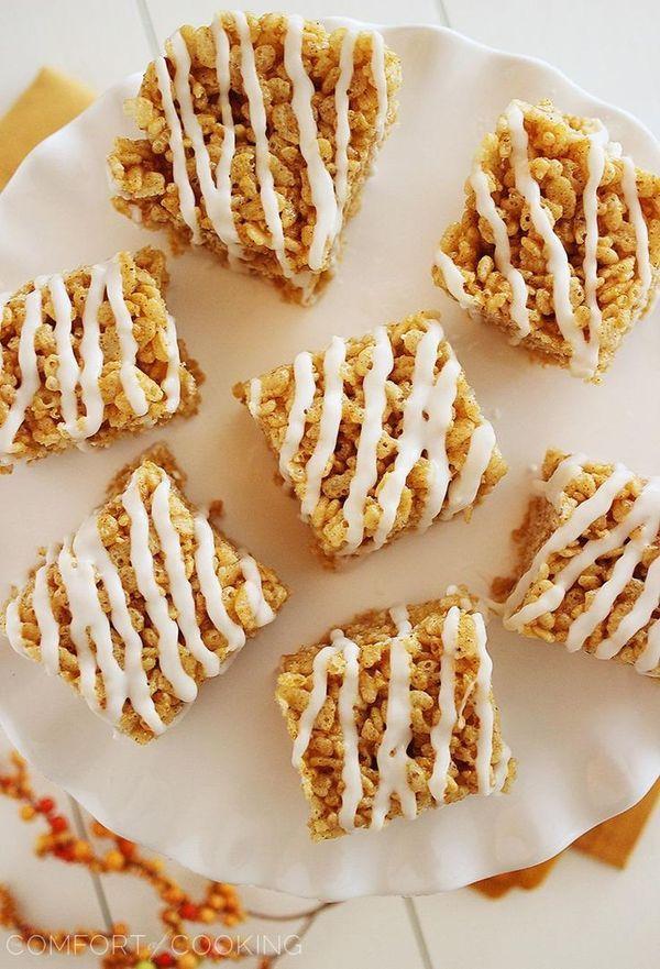 pumpkin spice rice krispy treats | Food | Pinterest