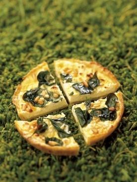 feta & spinach quiche | Feta Recipes | Pinterest