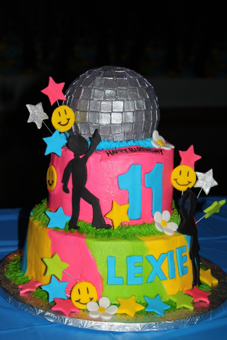 Disco Party Cake Images : Pinterest