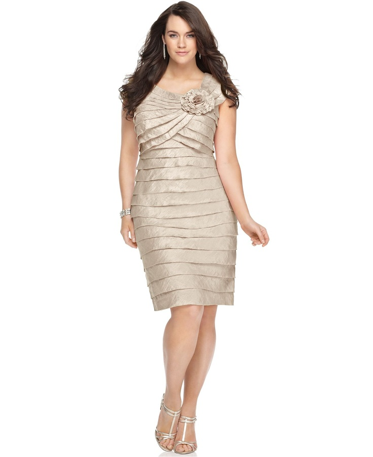 macy's plus length dresses