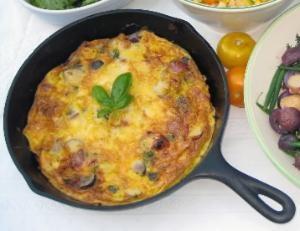 Cheddar, Tomato and Potato Frittata | Recipe
