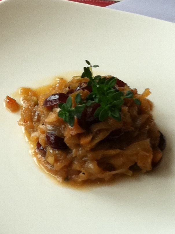 Onion Confit with Honey, Sultanas and White Wine | Recipe