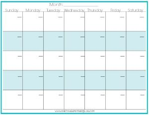 31 Day Calendar Template | Calendar Template 2016