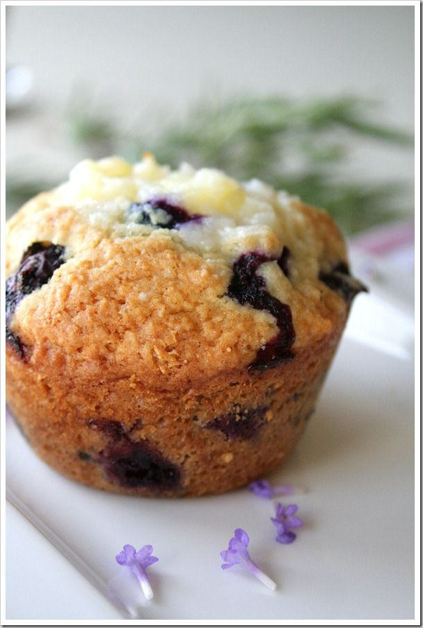 lavender blueberry cream cheese muffins | Sweet | Pinterest