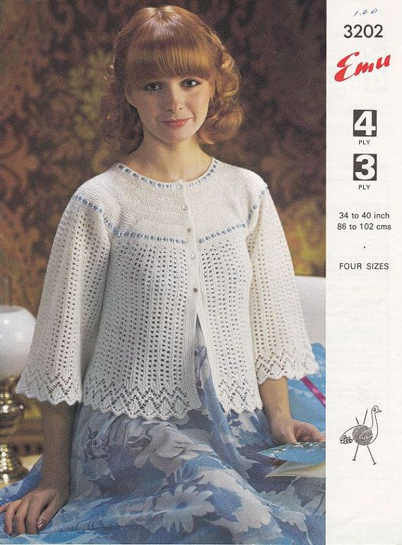 Knitting Pattern For Bed Shawl : Bed Jacket Knitting Pattern - PDF File