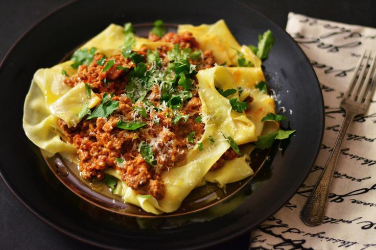 Fresh Pappardelle Pasta with Lamb and Pork Bolognese...this is what I ...
