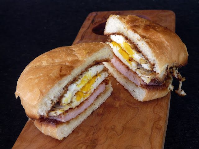 Peameal Bacon and Fried Egg Sandwich. Country Biscuits, peamale bacon ...