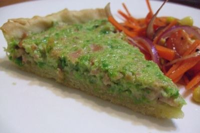 ham & pea quiche by stephcookie2, via Flickr