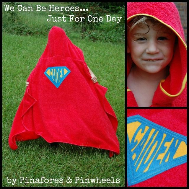 Superhero Towel.