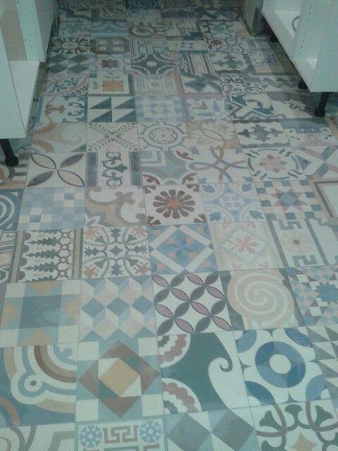 Mixed Moroccan Kitchen Floor Tiles Quirky Garish Decor Ideas Pi