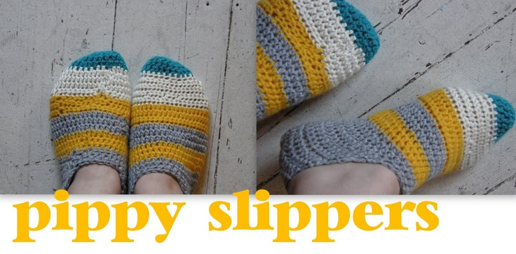 :: Meet Me At Mikes : Good Stuff For Nice People: :: How To Crochet Pippy Slippers...!