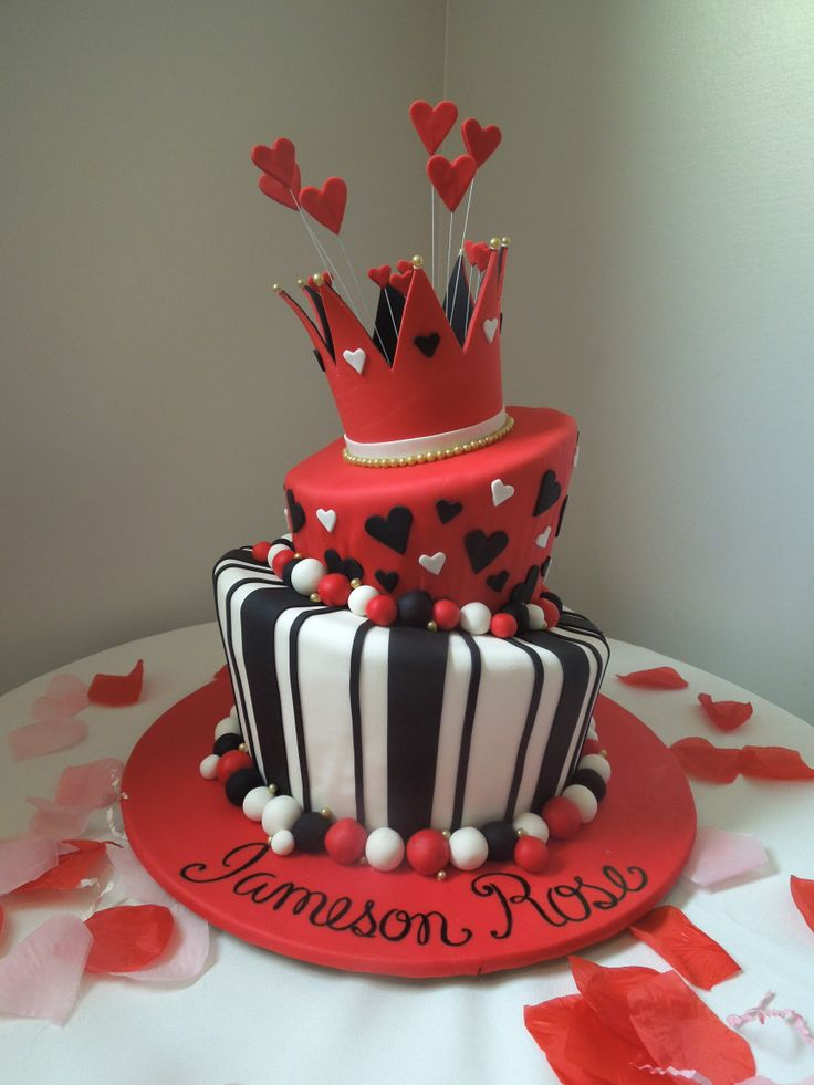 Queen of Hearts cake for 1st Birthday Party, by Couture Cakes, Inc.