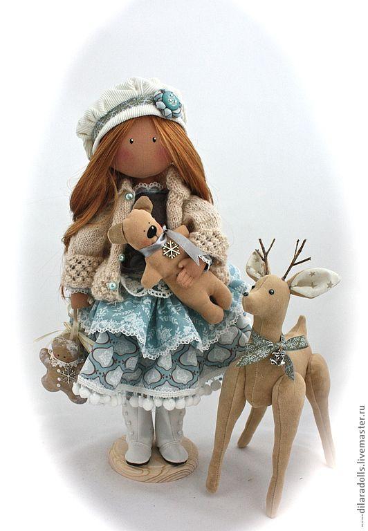 Человечки ручной работы.  Ярмарка Мастеров - ручная работа текстильная кукла Белла.  Ручная работа.