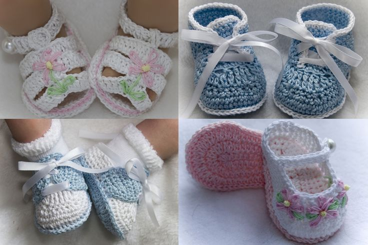Knitting Pattern For Doll Booties : Assorted Grace Booties Pattern baby gifts, ideas Pinterest