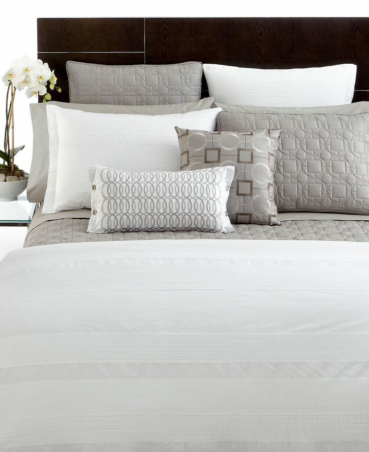 Closeout Hotel Collection Woven Pleats Full Queen Duvet Cover