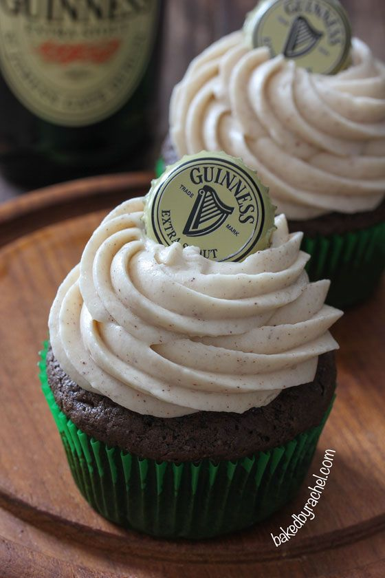 Guinness Chocolate Cupcakes with Cinnamon Cream Cheese Frosting Recipe ...