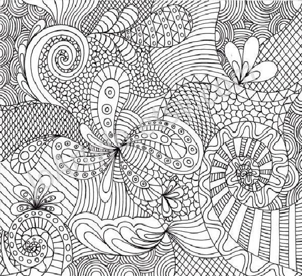 Comlicated Patterns Colouring Pages