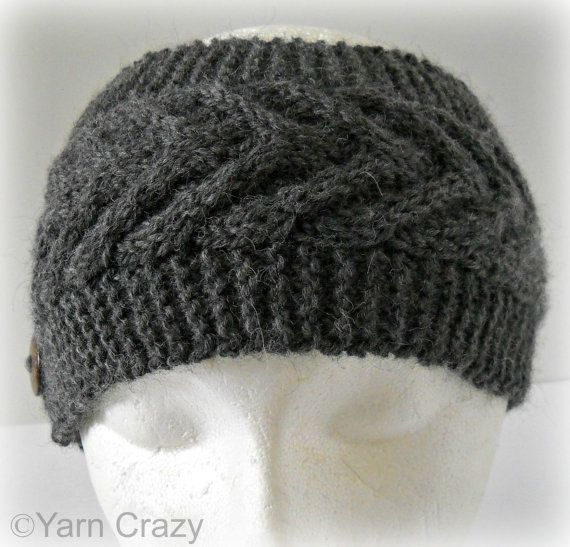 Knitted Ear Warmer Pattern In The Round : PDF KNITTING PATTERN // Cable Knit Ear Warmer // Instant Download