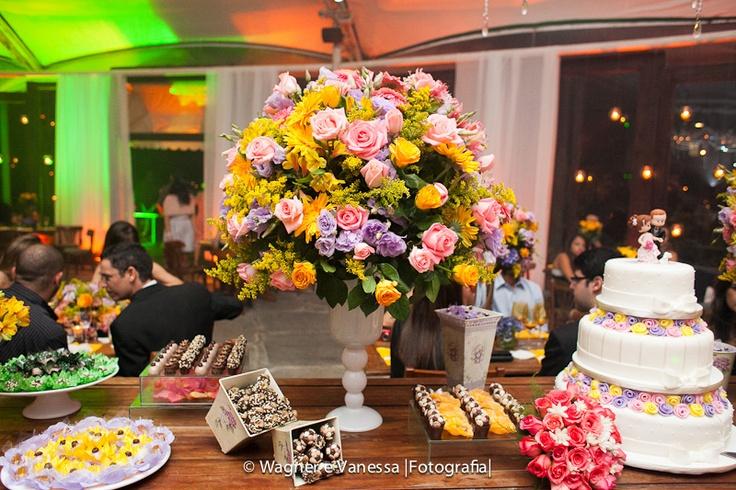 Amarelo + Rosa + Lilás  casamento  Pinterest