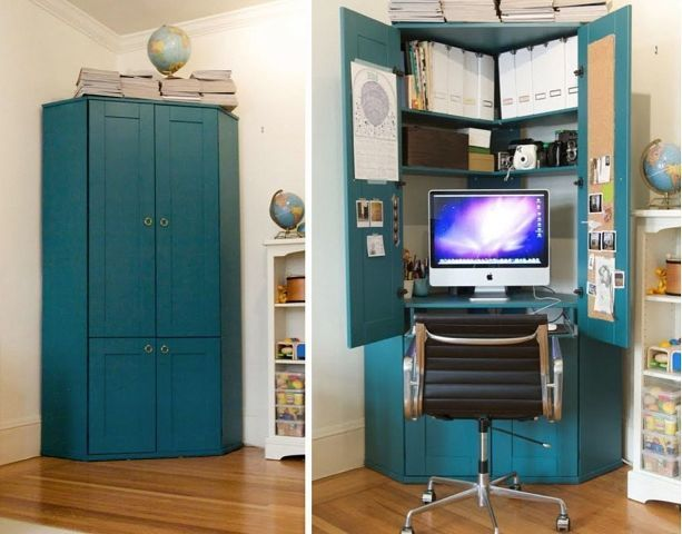Hidden Desk Ideas For Small Spaces Pinterest