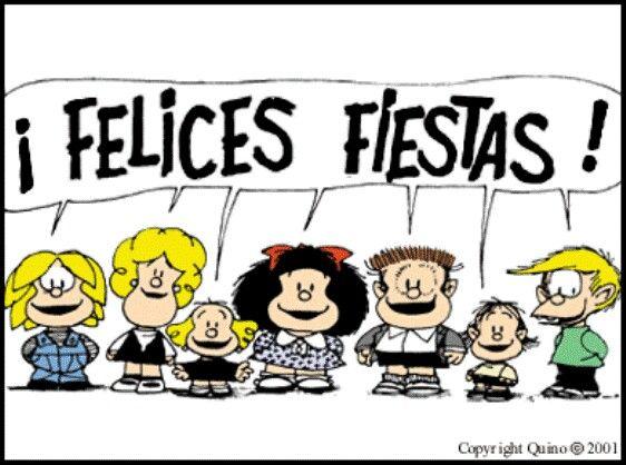 Mafalda y sus amigos felices fiestas mafalda pinterest - Frases de navidad graciosas ...