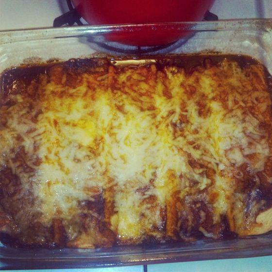 ... Black bean and sweet potato enchiladas #meatlessmonday #vegetarian #