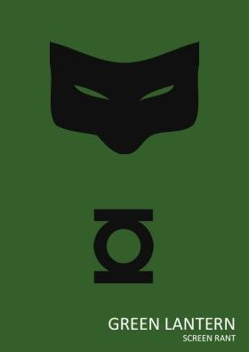Minimalist Green Lantern