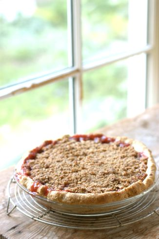 Sour Cherry Pie with Brown Butter Almond Crumble Recipe « Chef Marcus ...