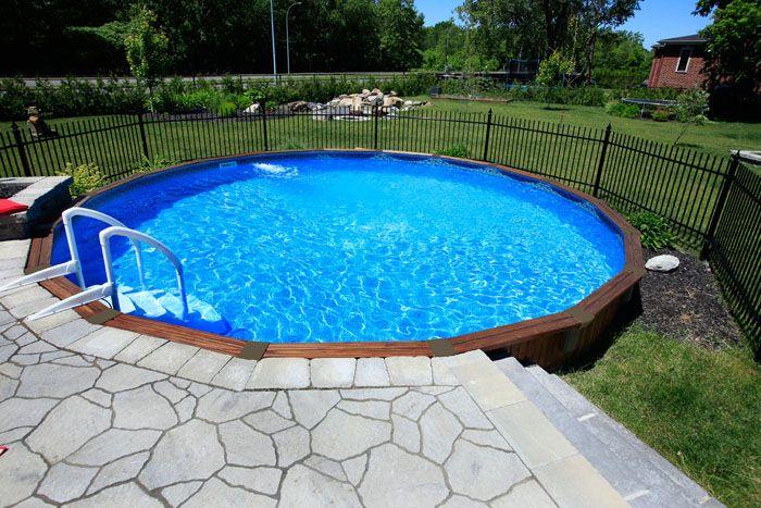 Semi Inground Pool Photos Joy Studio Design Gallery Best Design