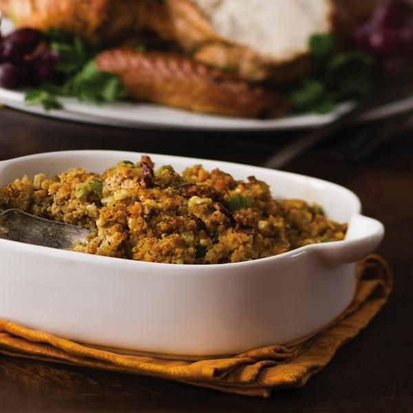 Corn and Bacon Cornbread Stuffing | favorite receipes | Pinterest
