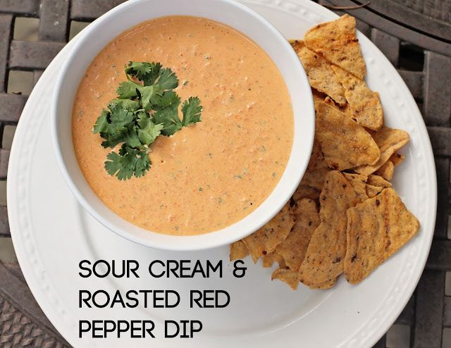 Sour Cream & Roasted Red Pepper Dip (Weight Watchers) - pair with ...