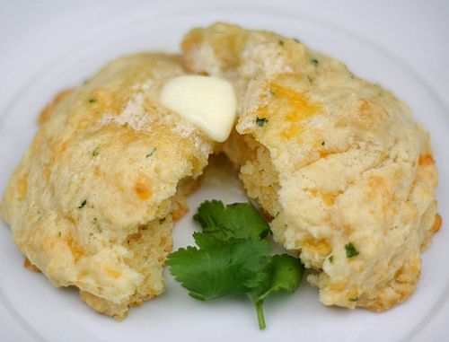 Cheddar Cheese Biscuits with Cilantro - I subbed parsley for the ...