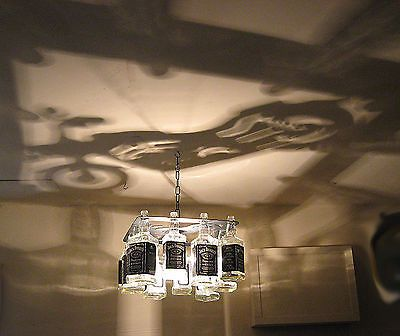 Unique motorcycle jack daniels bottle chandelier light for Meuble jack daniels
