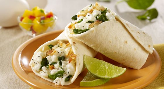 Vegetarian Breakfast Burrito | Breakfast Foods | Pinterest