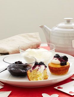 Meyer Lemon Buttermilk Cake with Blueberry Lavender Compote and ...