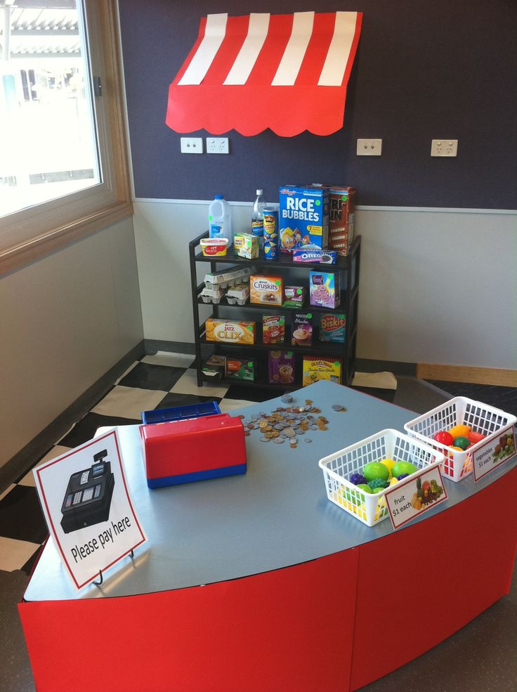 Classroom Store Ideas : Classroom shop corner store role play area daycare
