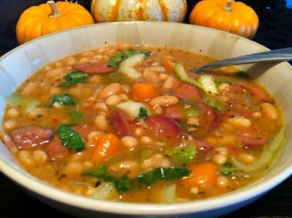 Bean and Sausage soup - crock pot | Recipes! | Pinterest