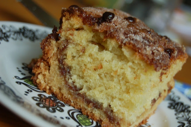 Chocolate Chip Sour Cream Coffee Cake | bakery | Pinterest