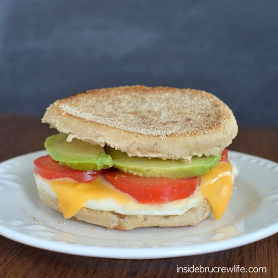 ... sandwich gets a twist from tomato, avocado, and cheese http://www